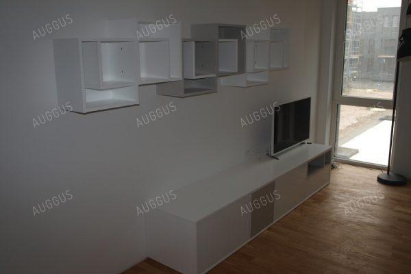 TV staliukas lentynėlių kompozicija balta - pilka-800x600a